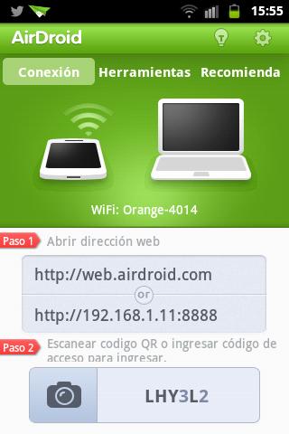 aplicación para Android AirDroid