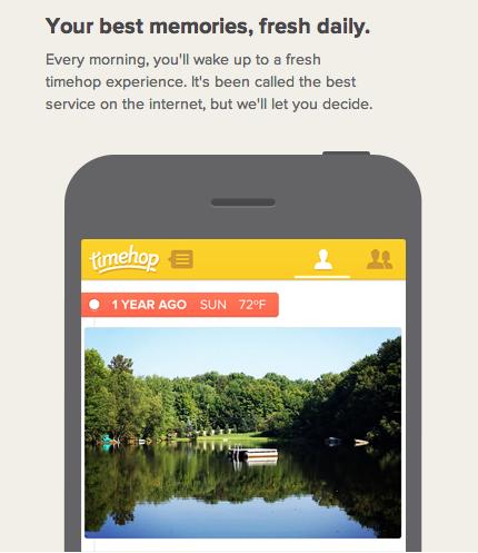 app recuerda actividad timehop