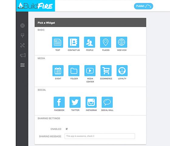 app buildfire caracteristicas