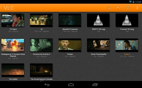 app android reproductor video VLC