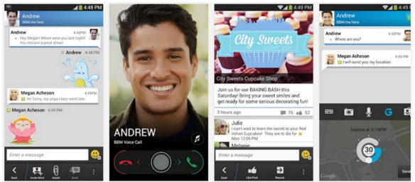 app BlackBerry Messenger BBM