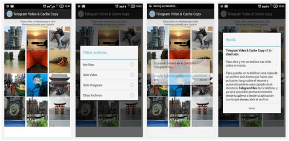 app telegram video foto